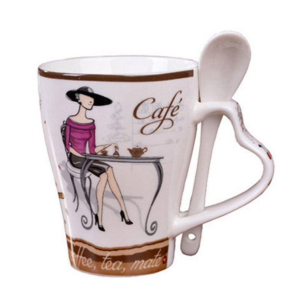 High Quality Fashion Elegant Pattern Design Funny  Ceramic Coffee Cup - Zeat - 1