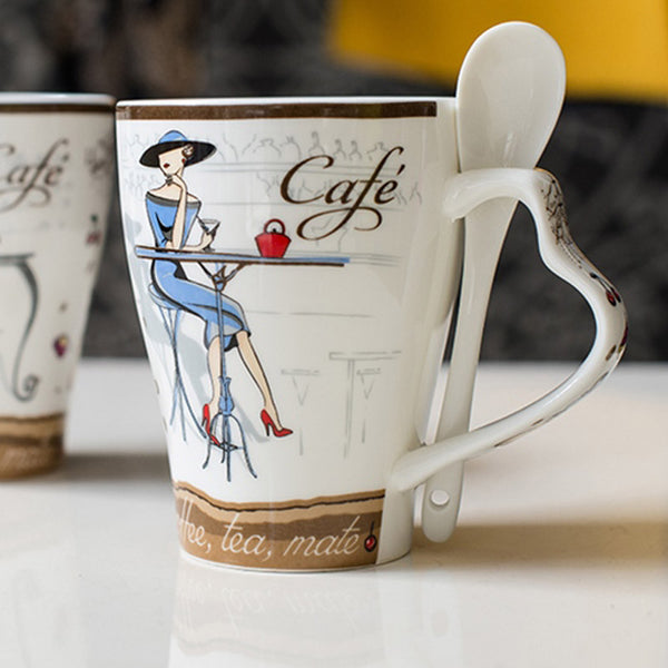 High Quality Fashion Elegant Pattern Design Funny  Ceramic Coffee Cup - Zeat - 9