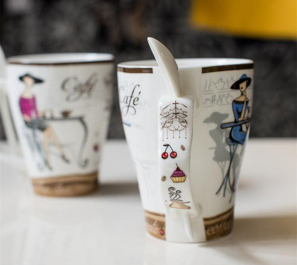 High Quality Fashion Elegant Pattern Design Funny  Ceramic Coffee Cup - Zeat - 6