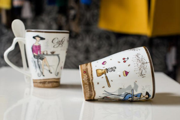 High Quality Fashion Elegant Pattern Design Funny  Ceramic Coffee Cup - Zeat - 7