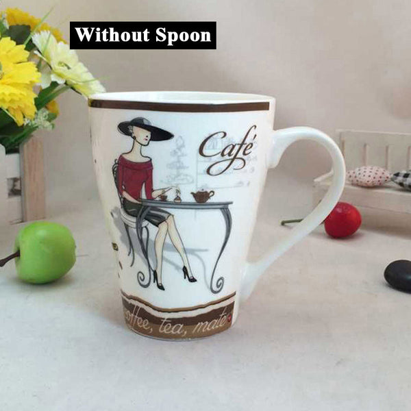 High Quality Fashion Elegant Pattern Design Funny  Ceramic Coffee Cup - Zeat - 2