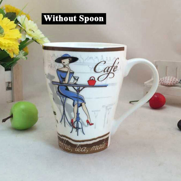 High Quality Fashion Elegant Pattern Design Funny  Ceramic Coffee Cup - Zeat - 3