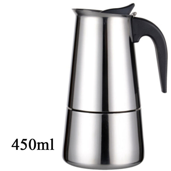 Stainless Steel Moka Espresso Latte Percolator Stove Top Coffee Pot - Need Coffee Time