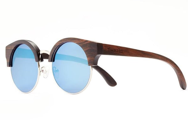 Ebony - Half-rimmed - Timbered sunglasses, Wooden sunglasses - Wooden sunglasses, Timbered - Timbered