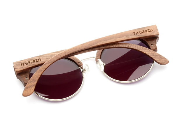 Walnut - Half-rimmed - Timbered sunglasses, Wooden sunglasses - Wooden sunglasses, Timbered - Timbered