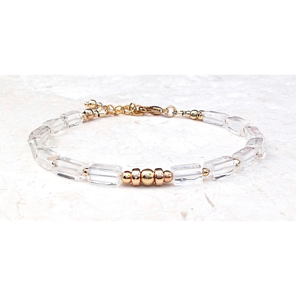 Crystal and Gold Bracelet-Festive By Nature