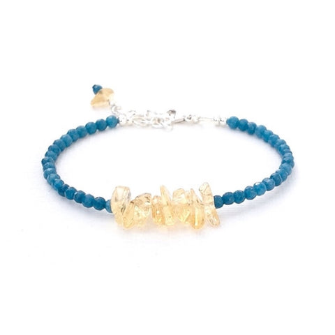 Blue Jade and citrine bracelet -1-Festive By Nature