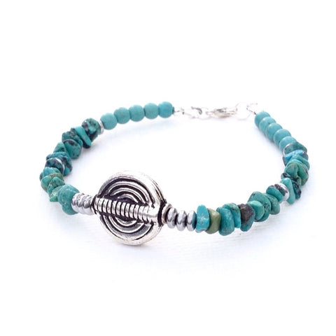 Tribal style Turquoise  bracelet -1-Festive By Nature