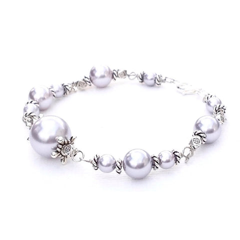 Swarovski Pearl bracelet and earring set-1-Festive By Nature