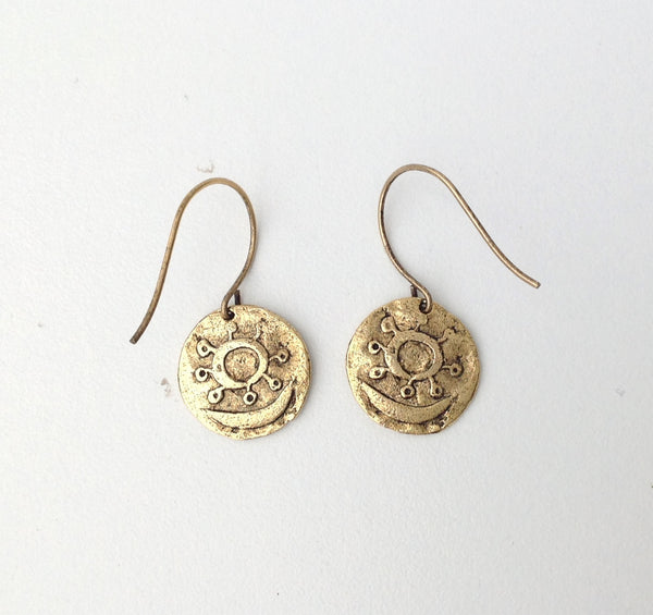 Antique gold coin earrings 4- Festive By Nature
