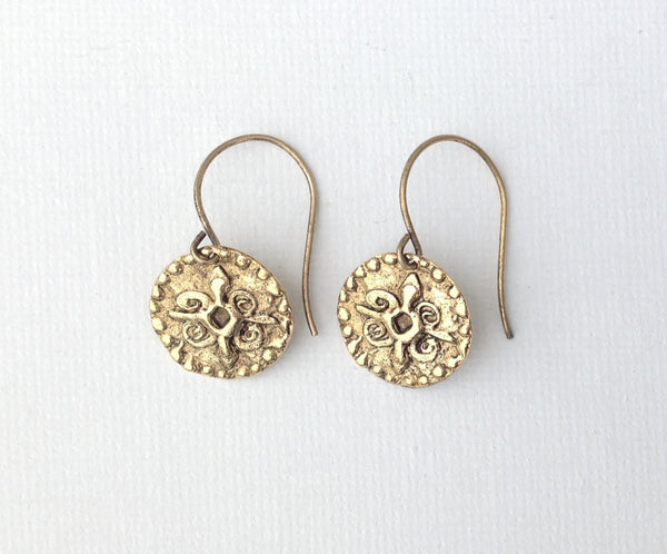 Antique gold coin earrings 5-Festive By Nature