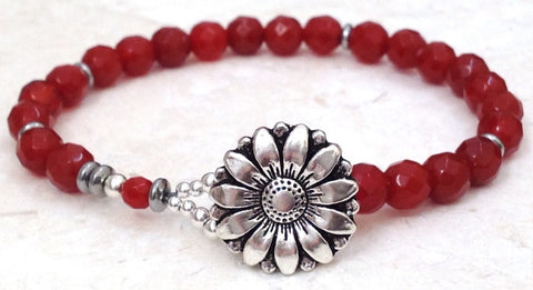 Carnelian Gemstone Bracelet - Festive By Nature