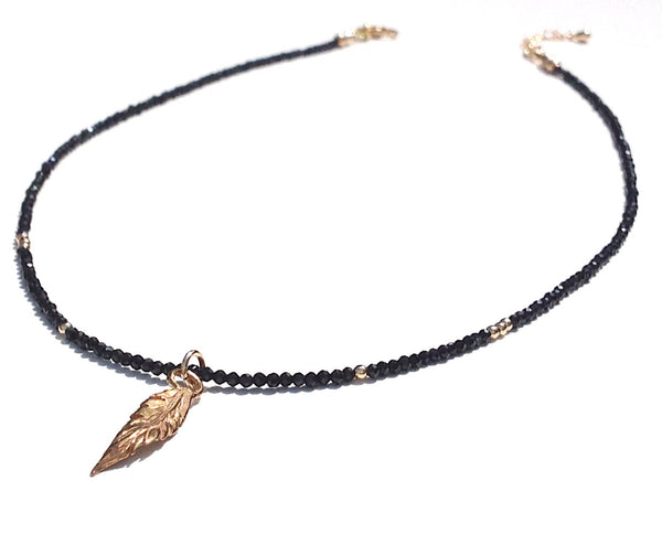 Black Spinel Gemstone Necklace - Festive By Nature