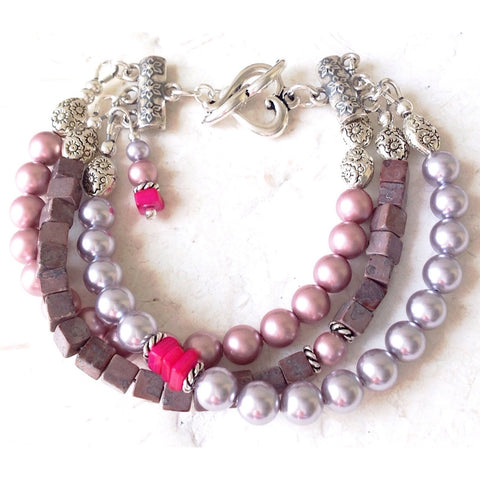 Romantic Pearl Bracelet - Festive By Nature