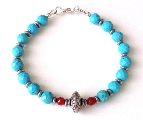 Boho style gemstone bracelet - Festive By Nature