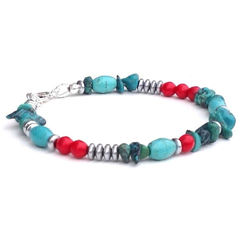 Mixed Turquoise Bracelet - Festive By Nature