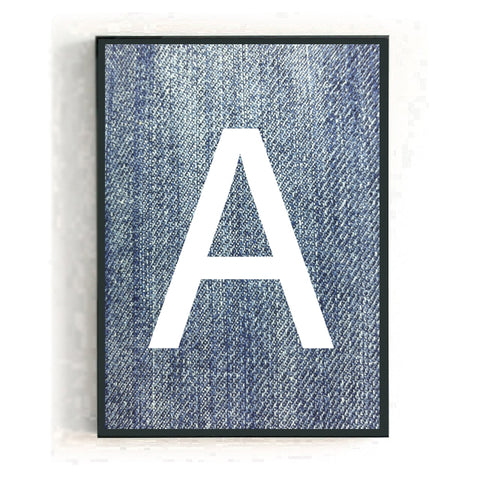 Personalised big letter - denim