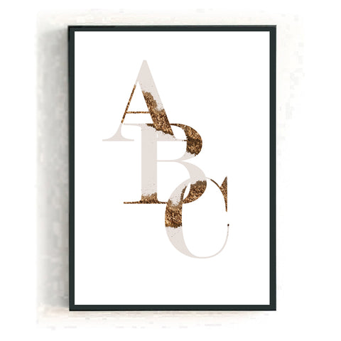 Personalised big letter - camo