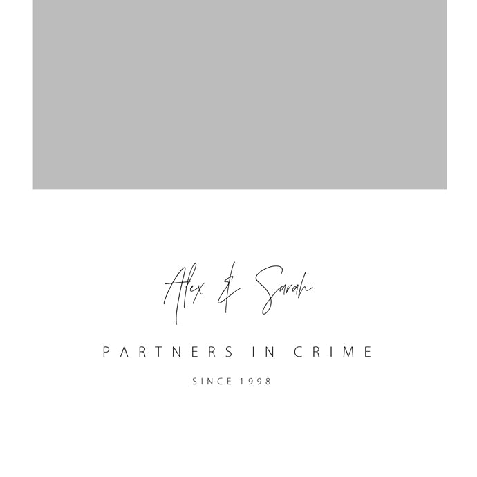 Personalised Partners In Crime - Grey/Marble