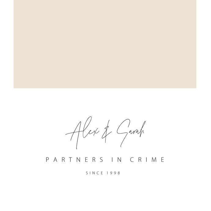 Personalised Partners In Crime - Nude/Gold