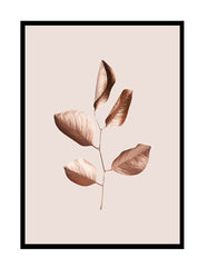 GILDED LEAVES - ROSE GOLD BABY PINK