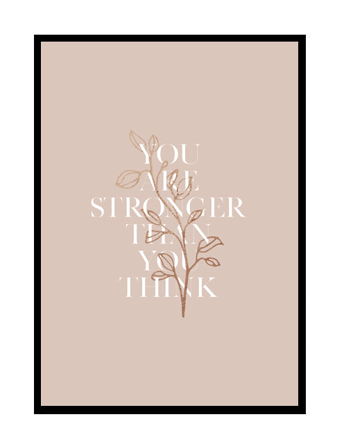 stronger than you think - pink