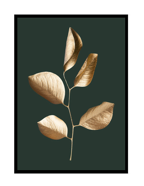GILDED LEAVES - GOLD/GREEN