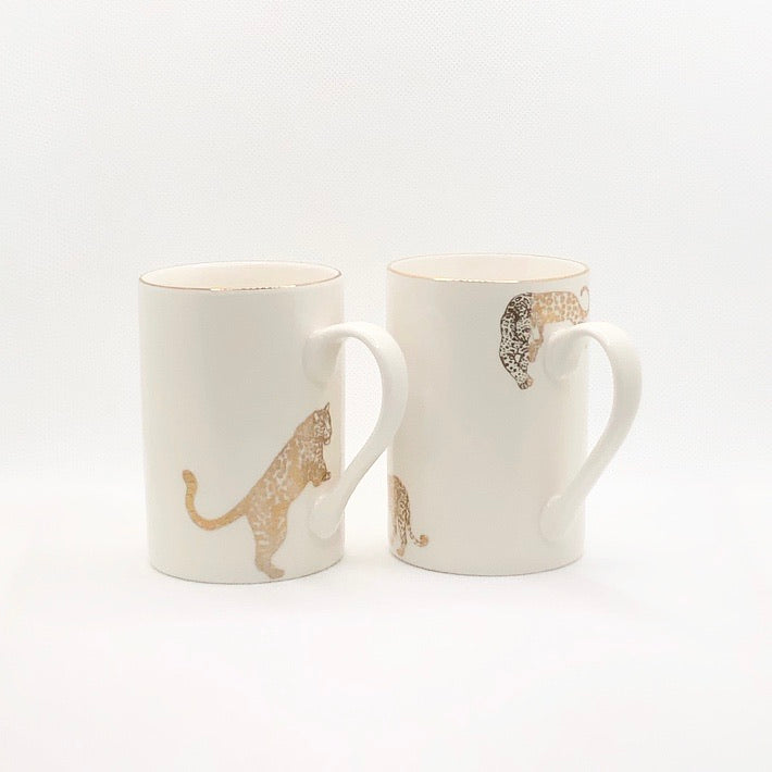 24k Gold Mug Set - Leopards