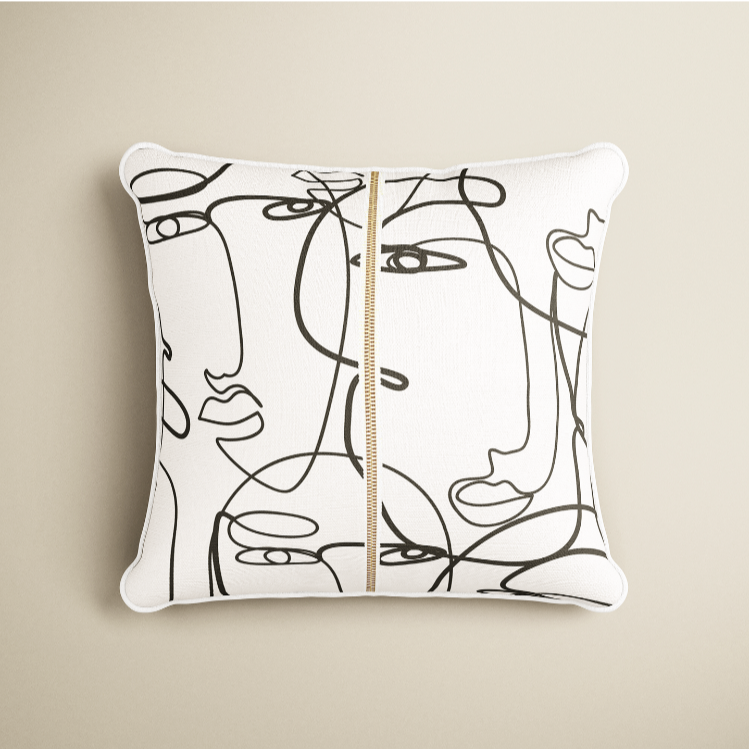FACES CUSHION COVER