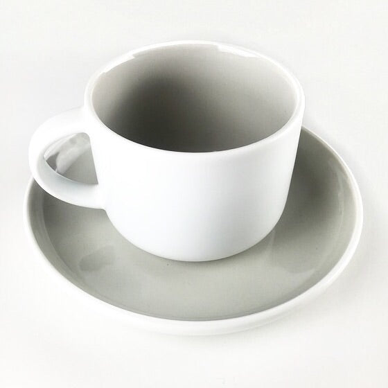Grey 2 Tone Cup And Saucer