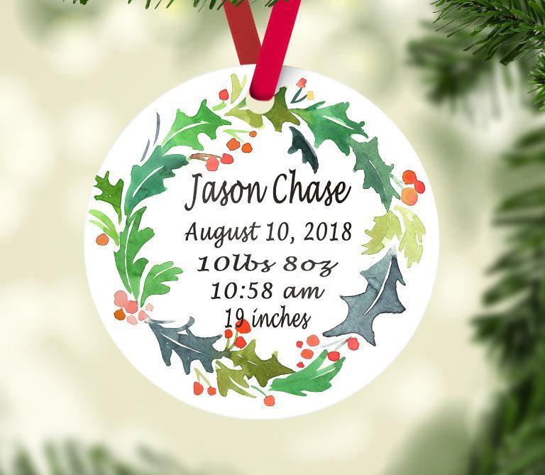 Baby/'s 1st Christmas Ornament New Baby Gift Baby/'s First Christmas Ornament Unicorn Baby Ornament Personalized Baby Ornament