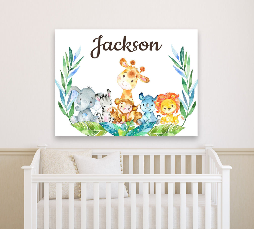 Deer Antlers Floral Wall Art Bedroom Decor Personalized Baby Shower Gift Sweet Blooms Decor
