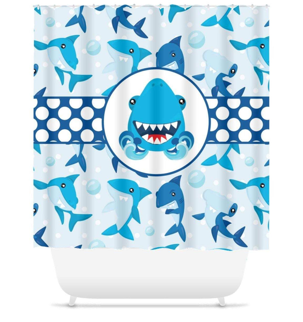 Shark Shower Curtain Shark Boy Bathroom Fish Shower Curtain Boy Shower Sweet Blooms Decor