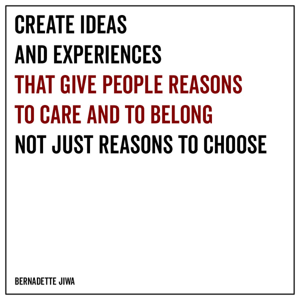 Create ideas and experiences