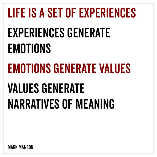 Life is a set of experiences