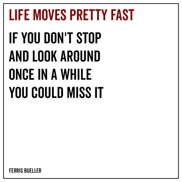 Life moves pretty fast