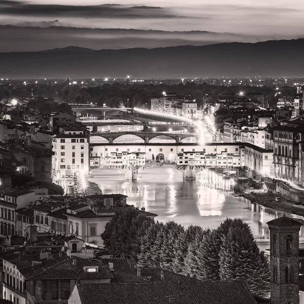 Ponte Vecchio at Night - Igor Menaker Fine Art Photography