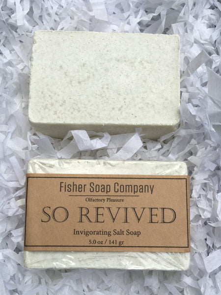 So Revived Salt Bar Soap Salt soap - Fisher Soap Company, LLC