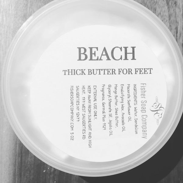 Beach For Feet Thick Butter - Fisher Soap Company, LLC