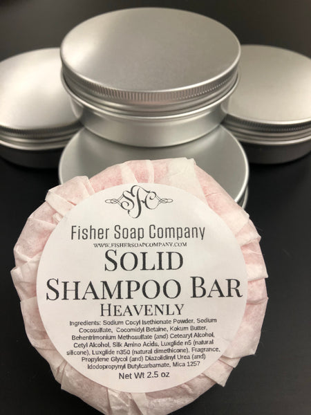 Shampoo Bar-Heavenly, Normal to Oily Solid Shampoo Bar Shampoo Bar - Fisher Soap Company, LLC
