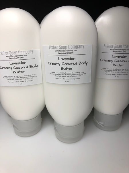 Lilac Creamy Coconut Lotion body butter - Fisher Soap Company, LLC