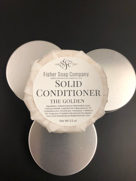 Conditioner- The Golden, Normal to Dry Solid Conditioner Bar Conditioner Bar - Fisher Soap Company, LLC