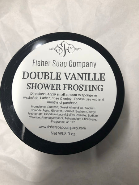 Double Vanille Shower Frosting, Limited Edition - Fisher Soap Company, LLC