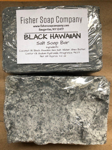 Black Hawaiian Sea Salt Soap - Fisher Soap Company - Fisher Soap Company, LLC