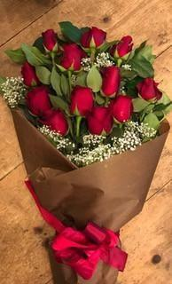Wrapped Red Roses (PICK-UP ONLY)