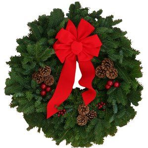 Decorated Holiday Door Wreath