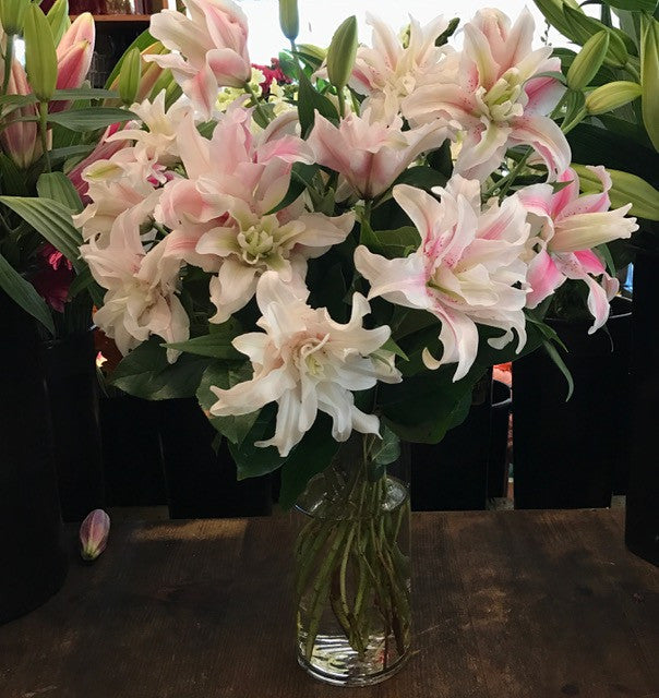 Double Rose Lily Arrangment