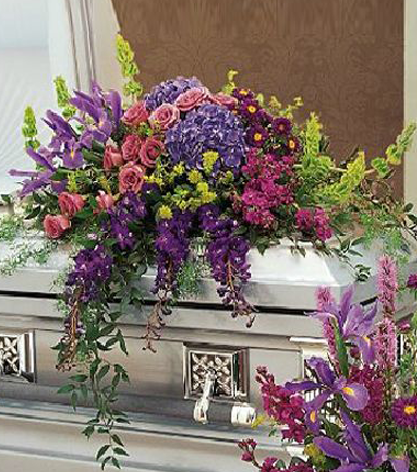 Purple Remembrance Casket Spray