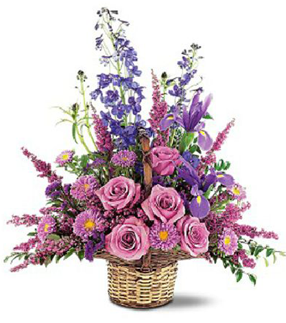 Purple Remembrance Basket