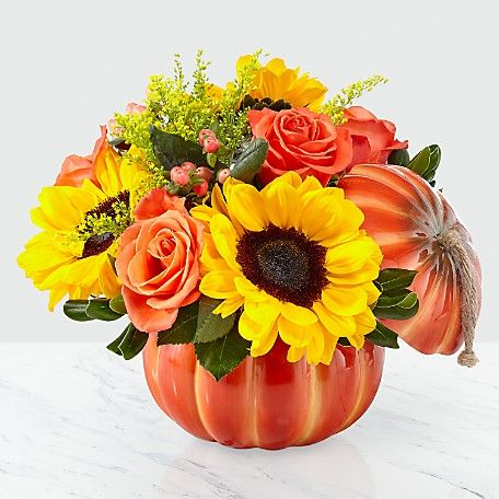 Harvest Moon Pumpkin Arrangement